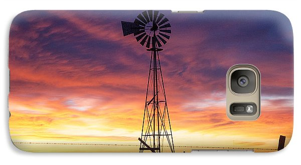 Galaxy Case featuring the photograph Windmill Dressed Up by Shirley Heier