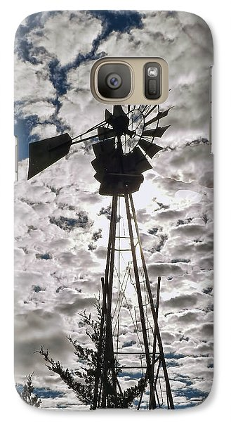 Galaxy Case featuring the digital art Windmill In The Clouds by Cathy Anderson
