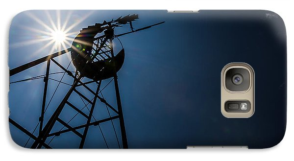 Galaxy Case featuring the photograph Windmill by Jay Stockhaus