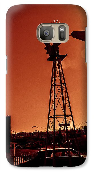 Galaxy Case featuring the photograph Windmill On Route66 by William Havle