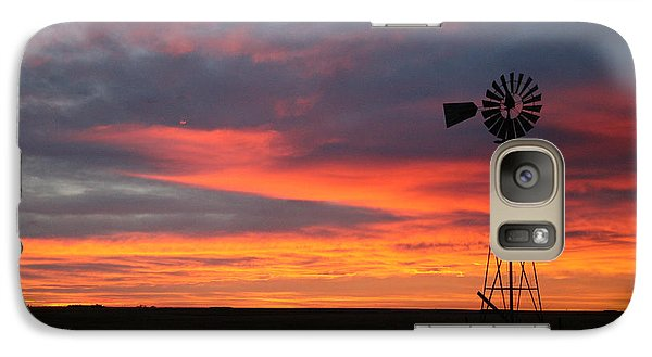 Galaxy Case featuring the photograph Windmill Sunrise by Shirley Heier