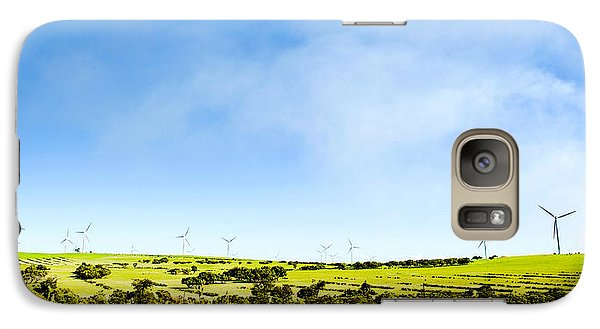 Galaxy Case featuring the photograph Windmill by Yew Kwang