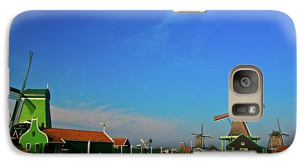 Galaxy Case featuring the photograph Windmills At Zaanse Schans by Jonah  Anderson