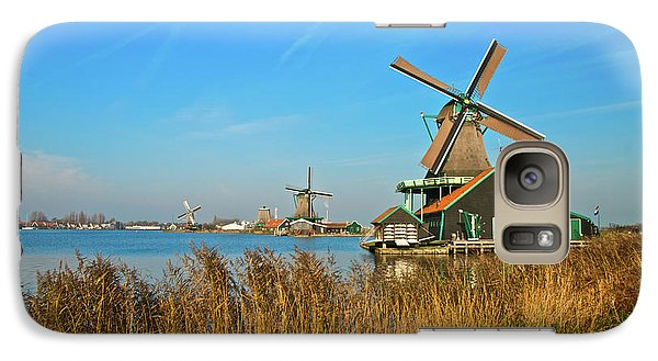 Galaxy Case featuring the photograph Windmills On De Zaan by Jonah  Anderson