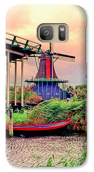 Galaxy Case featuring the photograph Windmills Storm Coming by Nigel Fletcher-Jones