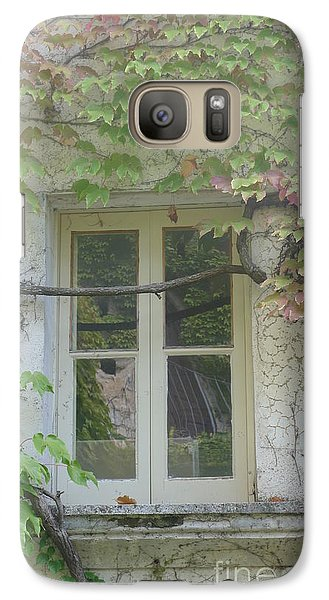 Galaxy Case featuring the photograph Window And Ivy II by Nora Boghossian