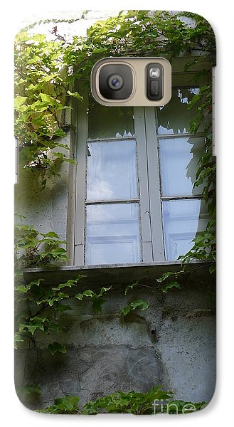 Galaxy Case featuring the photograph Window And Ivy by Nora Boghossian
