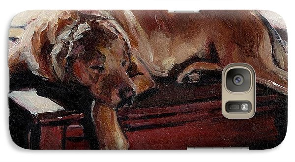 Galaxy Case featuring the painting Window Dresser by Molly Poole