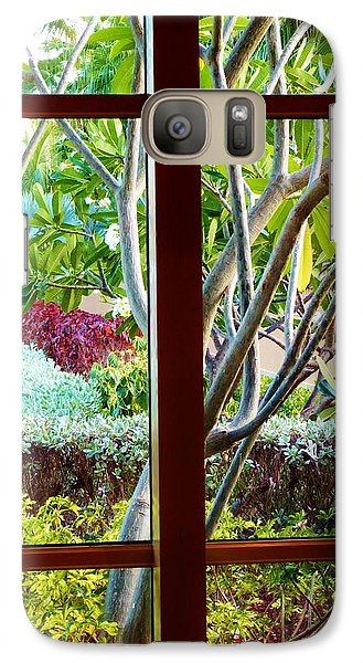 Galaxy Case featuring the photograph Window Garden by Amar Sheow