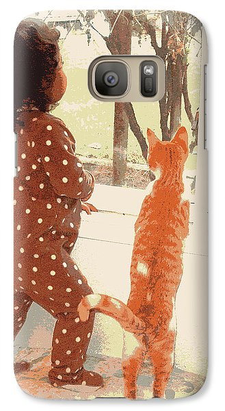 Galaxy Case featuring the photograph Window Gazing  by Heidi Manly