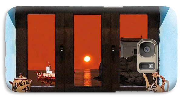 Galaxy Case featuring the photograph Window Into Greece 4 by Eric Kempson