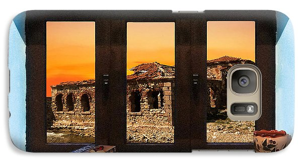 Galaxy Case featuring the photograph Window Into Greece 5 by Eric Kempson