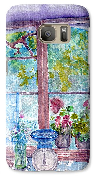 Galaxy Case featuring the painting Window by Jasna Dragun