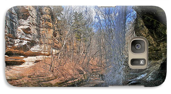 Galaxy Case featuring the photograph Window Of A Waterfall by Kathleen Scanlan