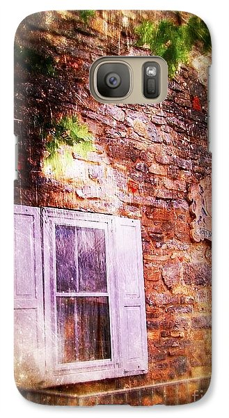 Galaxy Case featuring the photograph Window On The Rocks 1 by Becky Lupe
