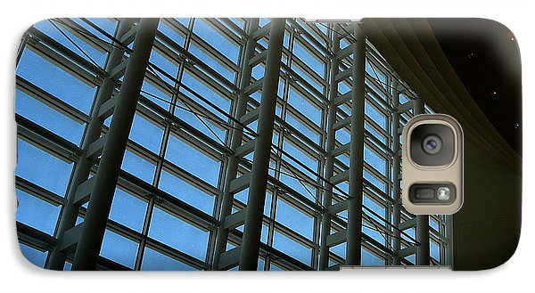 Galaxy Case featuring the photograph Window Wall At The Adrienne Arsht Center by Greg Allore