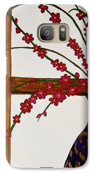 Galaxy Case featuring the painting Window With A View by Celeste Manning