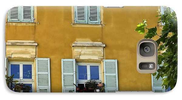 Galaxy Case featuring the photograph Windowboxes In Nice France by Allen Sheffield