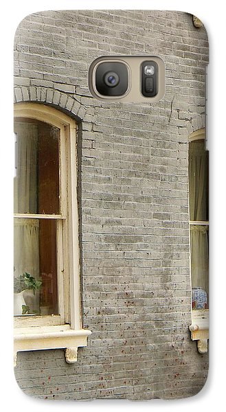 Galaxy Case featuring the photograph Windows by Jean Goodwin Brooks