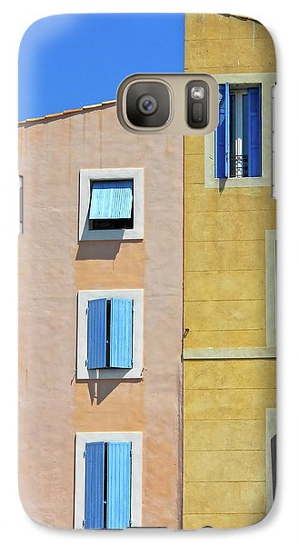 Galaxy Case featuring the photograph Windows Martigues Provence France by Dave Mills