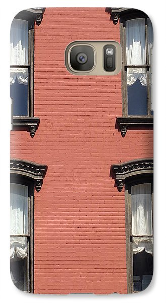 Galaxy Case featuring the photograph Window's Of Hudson Ny by Ira Shander
