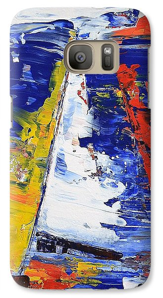 Galaxy Case featuring the painting Windy Day At Sea by Kathleen Pio