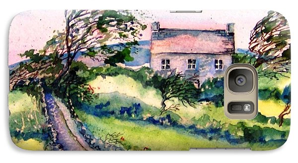 Galaxy Case featuring the painting Windy Day Clear Island  by Trudi Doyle