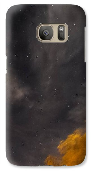 Galaxy Case featuring the photograph Windy Night by Angela J Wright