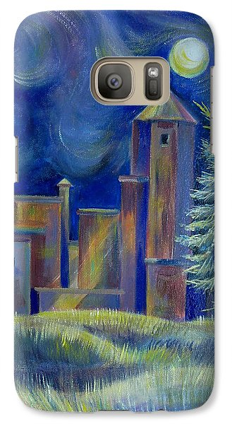 Galaxy Case featuring the painting Windy Night In Midnapore by Anna  Duyunova