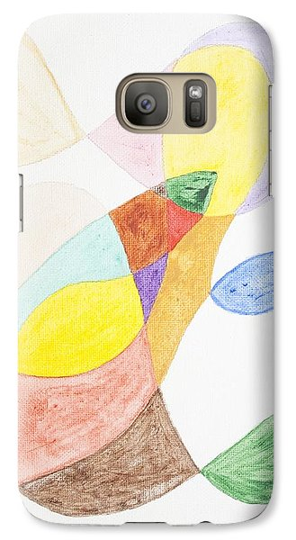 Galaxy Case featuring the painting Windy  by Stormm Bradshaw