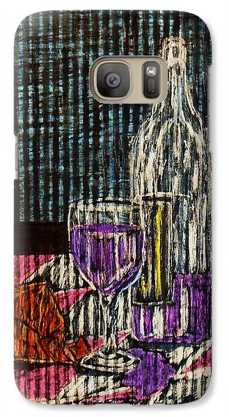 Galaxy Case featuring the painting Wine And Cheese by Celeste Manning
