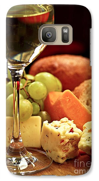 Wine And Cheese Galaxy S7 Case by Elena Elisseeva