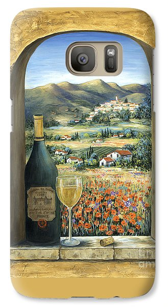 Cocktails Galaxy S7 Case - Wine And Poppies by Marilyn Dunlap