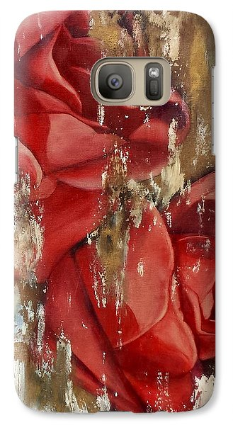 Galaxy Case featuring the painting Wine And Roses by Rebecca Glaze