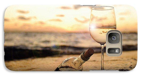 Wine Galaxy S7 Case - Wine And Sunset by Jon Neidert