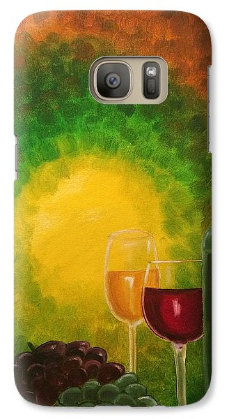 Galaxy Case featuring the painting Wine by Brindha Naveen