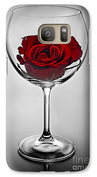 Wine Glass With Rose Galaxy S7 Case