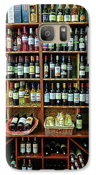 Galaxy Case featuring the photograph Wine Store Provence France by Dave Mills