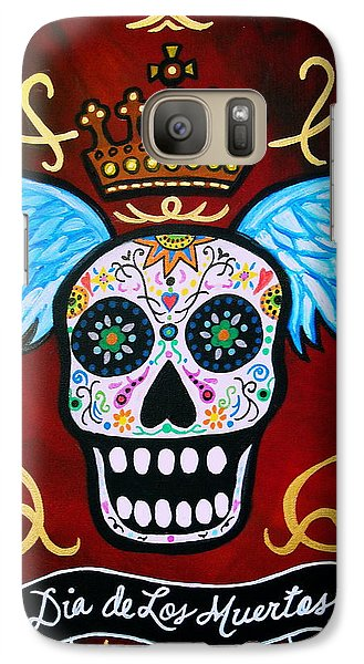Galaxy Case featuring the painting Winged Muertos by Pristine Cartera Turkus