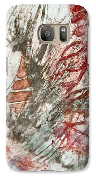 Galaxy Case featuring the painting Winged Silence by Carolyn Rosenberger