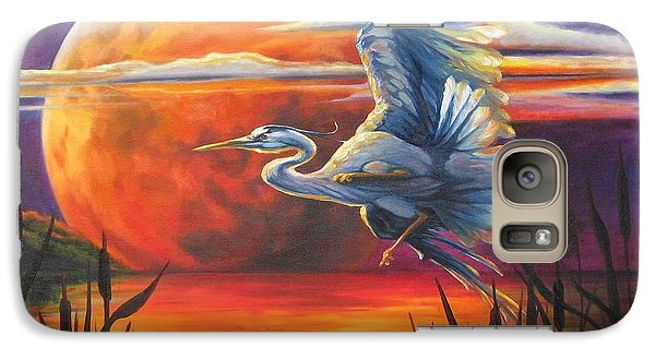 Galaxy Case featuring the painting Wings Across The Moon by Pat Burns
