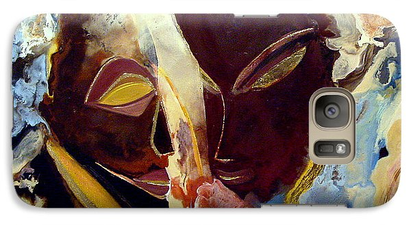 Galaxy Case featuring the painting Wings And Waterfalls by Carolyn Goodridge