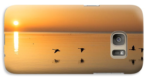 Galaxy Case featuring the photograph Wings At Sunrise by Georgia Mizuleva