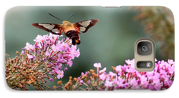 Galaxy Case featuring the photograph Wings In The Flowers by Kerri Farley