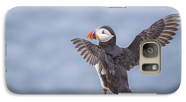 Puffin Galaxy S7 Case - Wings To Fly  by Evelina Kremsdorf