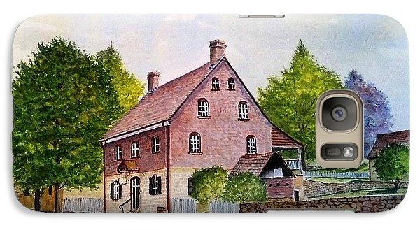 Galaxy Case featuring the painting Winkler Bakery Old Salem Winston Salem Nc by Richard Benson