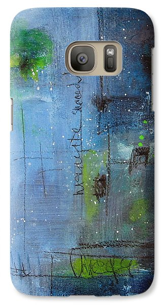 Galaxy Case featuring the painting Winter 2 by Nicole Nadeau
