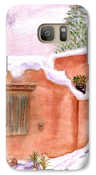 Galaxy Case featuring the painting Winter Adobe by Paula Ayers
