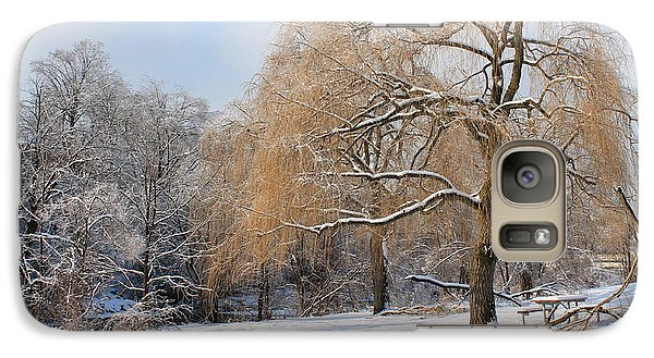 Galaxy Case featuring the photograph Winter Along The River by Nina Silver