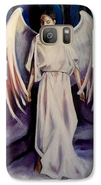 Galaxy Case featuring the painting Winter Angel by Irena Mohr